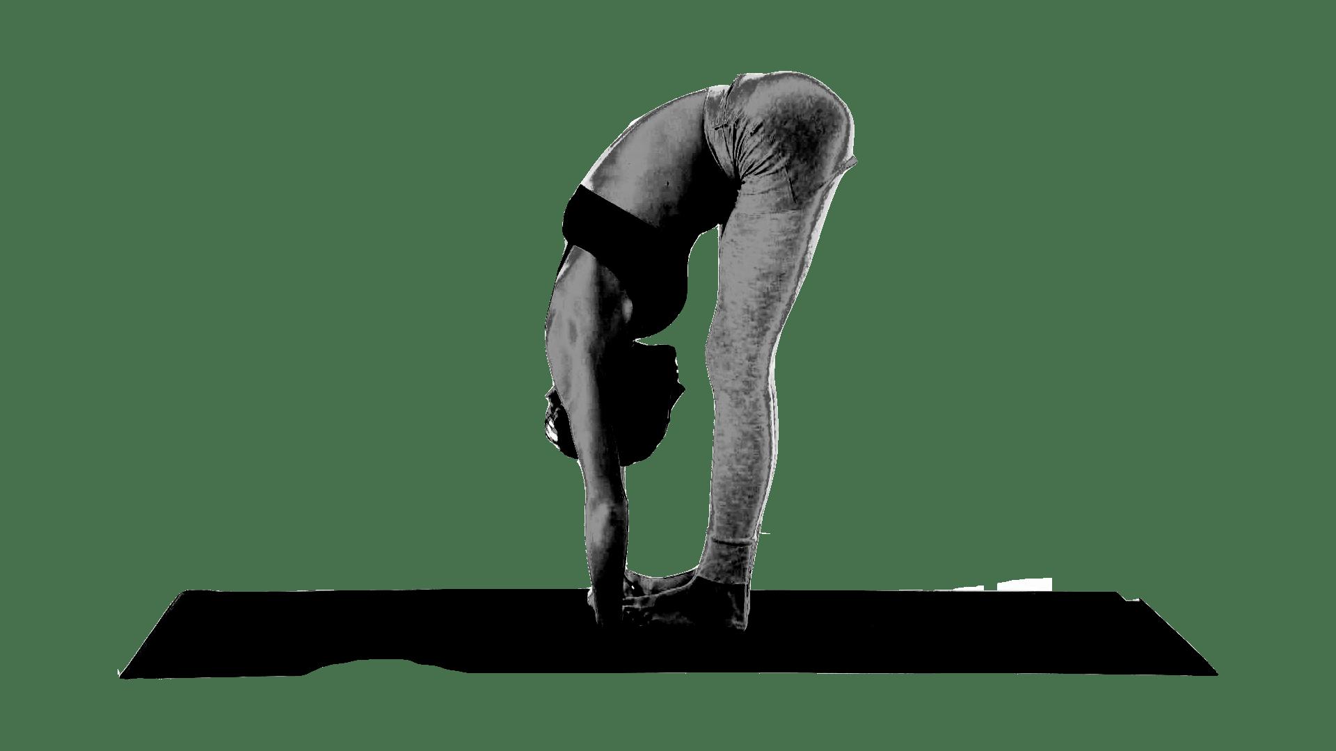 padhahasthasana - поза йоги помогающая вытянуть позвоночник