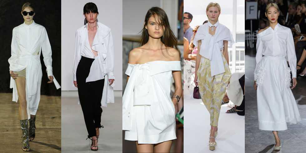 modnye tendencii 2016 novye sposoby nosit' beluju rubashku