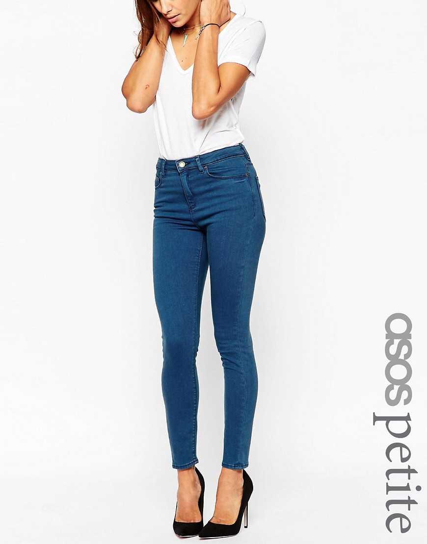 Темные джинсы скинни ASOS PETITE Ridley