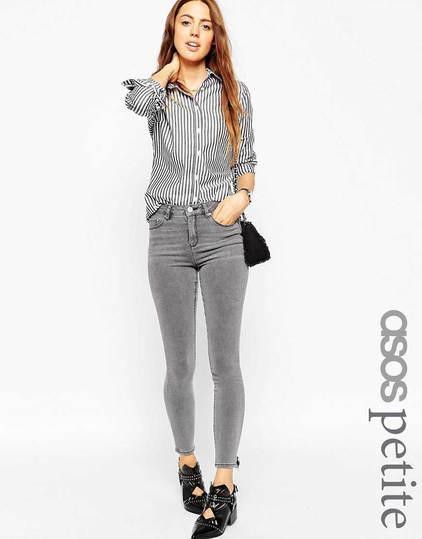 Укороченные рваные джинсы ASOS PETITE Ridley