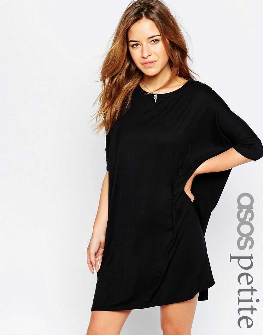 Платье-футболка ASOS PETITE— Черный