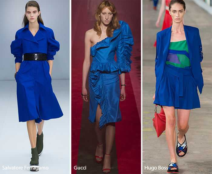 Модные цвета в одежде весна лето 2017
