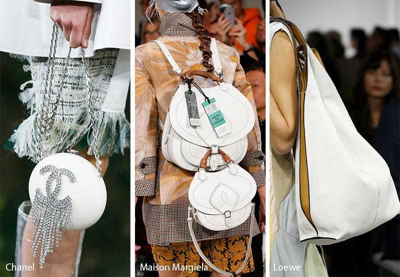 bad85532e730 Одним их самых летних и весенних модных цветов сумок 2018 — это белый. Если  планируете создавать монохромные образы, подобные модели выглядят ярко, ...