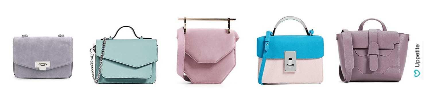 4909cd0e47a9 Также Victoria Beckham представила коллекцию светлых сумок жесткой формы из  кожи.
