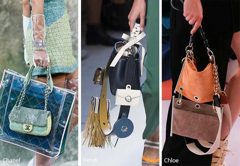 08f22896d733 Когда не хватает одной, то можно взять две и даже три сумки. Это же так  удобно! Этот тренд перешел к нам из предыдущих сезонов, но в новом  прочтении.