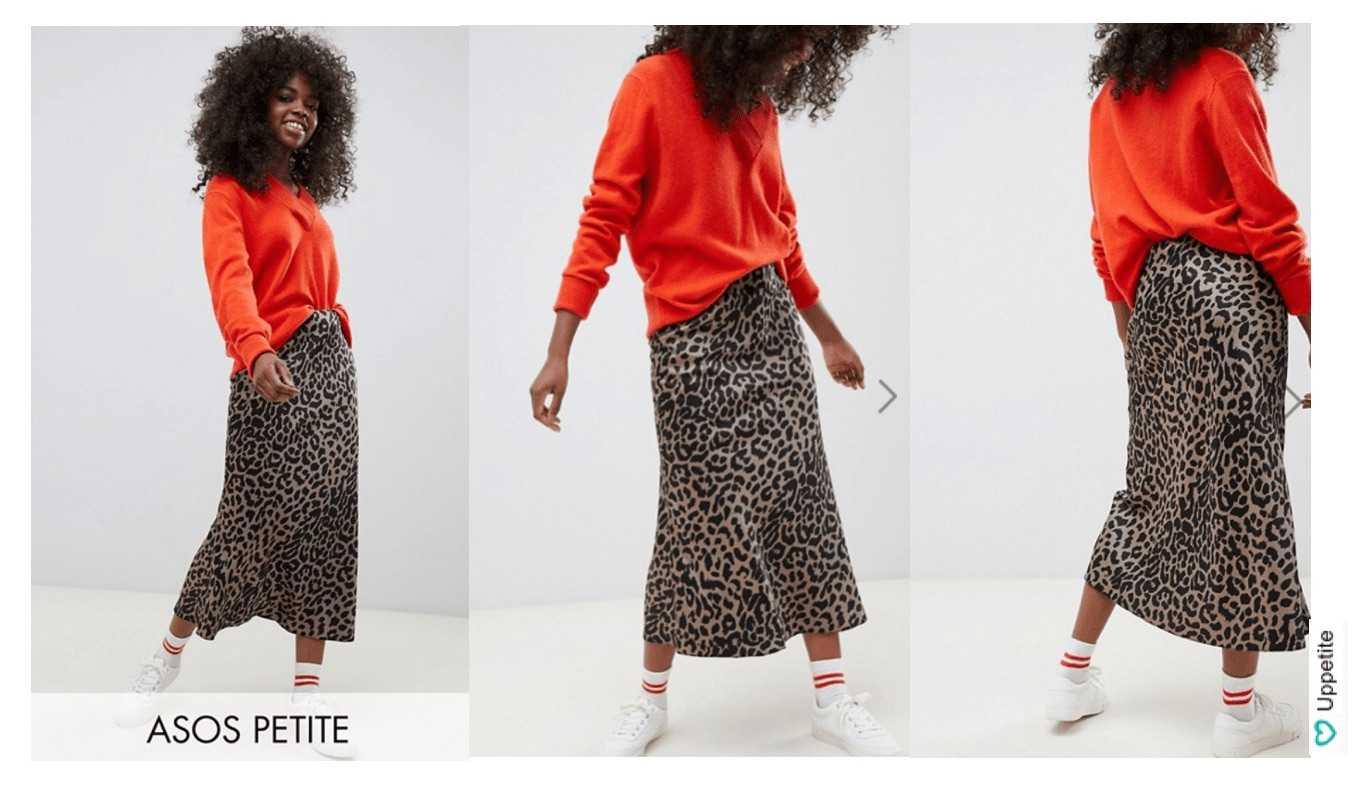 e8fc3bd7537 Миди юбка с леопардовым принтом ASOS DESIGN Petite. Сейчас такие атласные