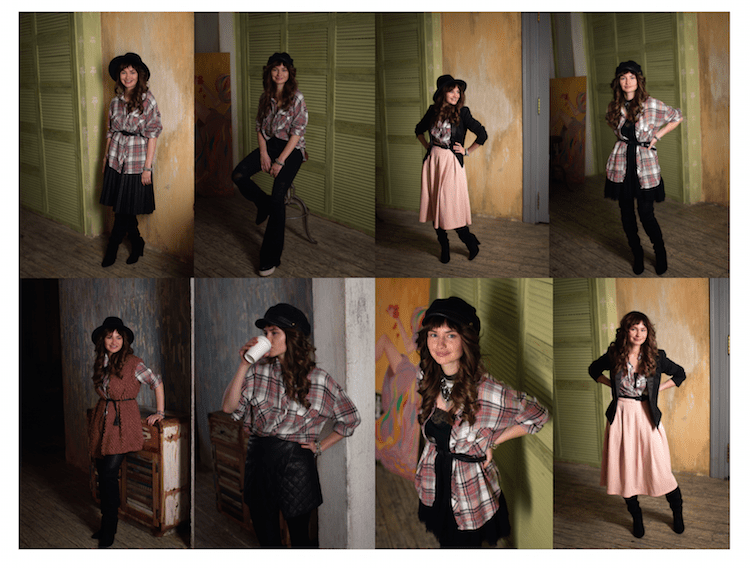 Как носить рубашку в клетку девушке: фото образы с джинсами, юбками и даже платьем