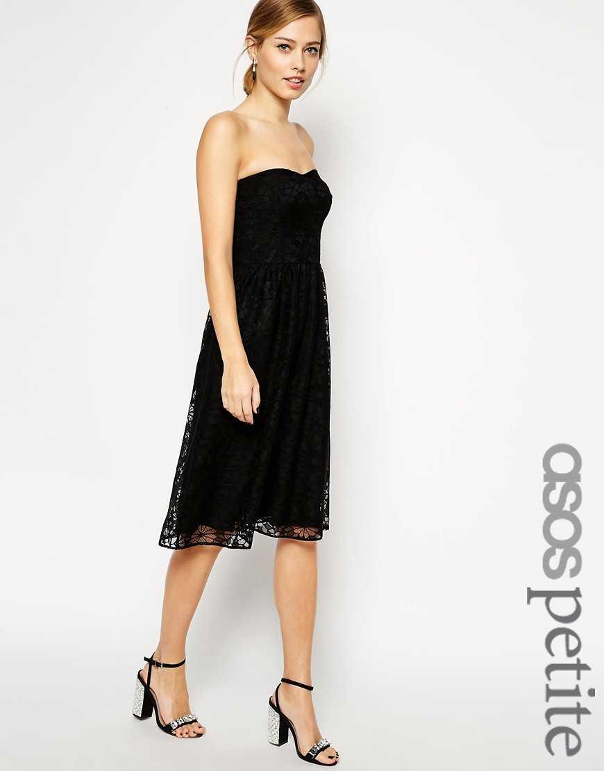 Платье-бандо из цветочного кружева ASOS PETITE— Розовый